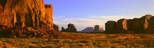 Monument Valley Tribal Park At Sunrise, Arizona Stock Photography