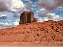 Monument Valley, U.S.A., August 2004. Sunset at Monument Valley, Utah, during Summer Stock Photo