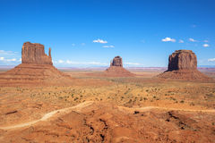 Monument valley under the blue sky Stock Photography