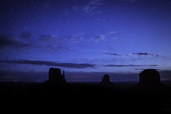 Monument Valley. Stars above Monument Valley. USA Stock Images