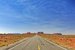 Monument valley in utah, interstate 163, usa royalty free stock images