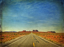 Monument valley in utah, interstate 163, usa Royalty Free Stock Photos
