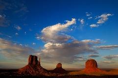 Monument Valley Utah at sunset royalty free stock image
