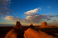 Monument Valley Utah at sunset Royalty Free Stock Photography
