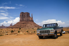 Monument Valley, Utah, United States - July 2011: A car in Monument Valley. A car in Monument Valley, Utah, United States - July 2011 Royalty Free Stock Images