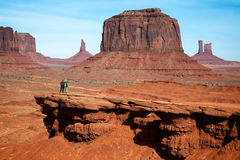 MONUMENT VALLEY, UTAH/USA - NOVEMBER 10 : Two Men Chatting in th Stock Photography