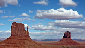 Monument Valley, Utah. A Zoom in Time-lapse of Monument Valley, Utah, USA stock video footage