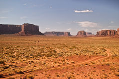 Monument Valley View. Back dirt road in Monument Valley Stock Image