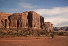 Monument Valley View. The is a view of Monument Valley stock photography