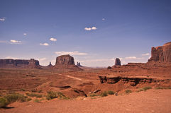 Monument Valley View. This is a view of Monument Valley stock photography