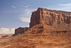 Monument Valley view. This is a view from the famous natural wonder, Monument Valley royalty free stock photography