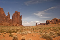Monument Valley view. This is a view from the famous natural wonder, Monument Valley stock photos