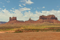 The Monument Valley. A view of the Monument Valley Royalty Free Stock Photos