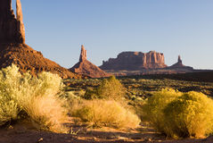 Monument valley view. View of sandstone formations in Monument Valley Royalty Free Stock Image