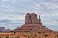 Monument Valley view on cloudy sky background Royalty Free Stock Photo