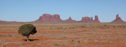 Monument Valley. View form distance Royalty Free Stock Photos