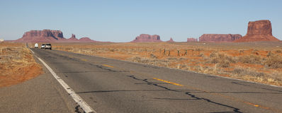 Monument Valley. View form entrance highway close to Utah state border stock photos