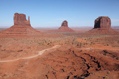 Monument Valley. View form vistor center stock photography
