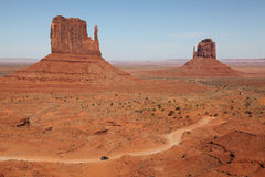 Monument Valley. View form vistor center Royalty Free Stock Photos
