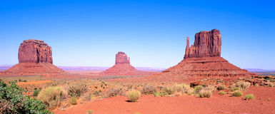 Monument Valley. View of the Mittens in Monument Valley Royalty Free Stock Images