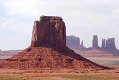 Monument Valley Vista. A classic look of the Monument Valley demonstrating the great distances of the American West, close to the John Ford landmark in the Stock Image