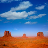 Monument Valley West And East Mittens And Merrick Butte Stock Image