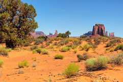 Monument Valley West and East Mittens Butte Utah National Park Stock Image