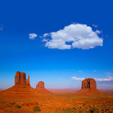 Monument Valley West and East Mittens and Merrick Butte Royalty Free Stock Photography