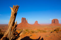 Monument Valley West and East Mittens and Merrick Butte. Utah stock photos