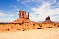 Monument Valley West Mitten Butte USA America. West Mitten Butte in Monument Valley USA America Stock Photography