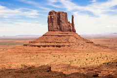 Monument Valley West Mitten Butte USA America. West Mitten Butte in Monument Valley USA America Stock Photos