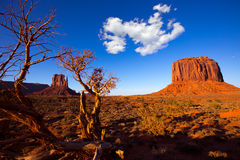 Monument Valley West Mitten and Merrick Butte Stock Image