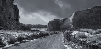 Monument valley in Winter Stock Photography