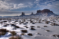 Monument valley winter wonderland Royalty Free Stock Images