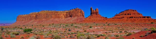 Monument Valley's Eagle Mesa Panorama Stock Images