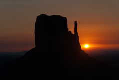 Monument Vally. A butte in Monument Valley, Utah Stock Images