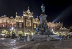 Monument van Adam Mickiewicz in Krakau, Polen Royalty-vrije Stock Afbeelding