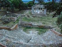 Monument van Agonothetes en Odeon van Apollonia royalty-vrije stock afbeeldingen