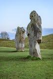 Monument van Avebury het neolithische henge Stock Foto