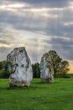 Monument van Avebury het neolithische henge Royalty-vrije Stock Foto's