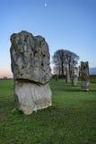 Monument van Avebury het neolithische henge Stock Afbeeldingen