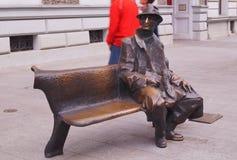 Monument van beroemde dichter Tuwim Royalty-vrije Stock Afbeelding