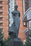 Monument van beroemde Oekraïense schrijver Lesia Ukrainka kiev Stock Foto's
