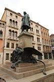 Monument van Daniele Manin in Venetië stock foto's