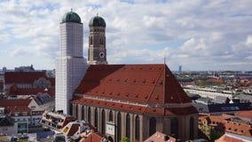 Monument van de de kathedraal frauenkirche het oude stad van München Beieren stock afbeelding