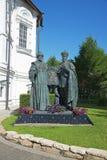 Monument van de koningen in het Klooster van Moskou Novospassky Stock Foto