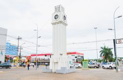 Monument van een klok genoemd Centrale Relogio Royalty-vrije Stock Foto's