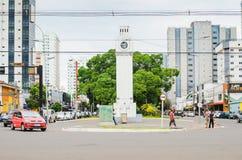 Monument van een klok genoemd Centrale Relogio Stock Foto's