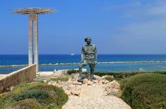 Monument van geheugen en eer in Chlorakas-dorp, Cyprus stock foto's