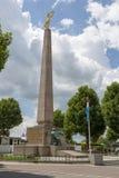 Monument van Herinnerings Gouden Dame in het hart van Luxemburg stock foto